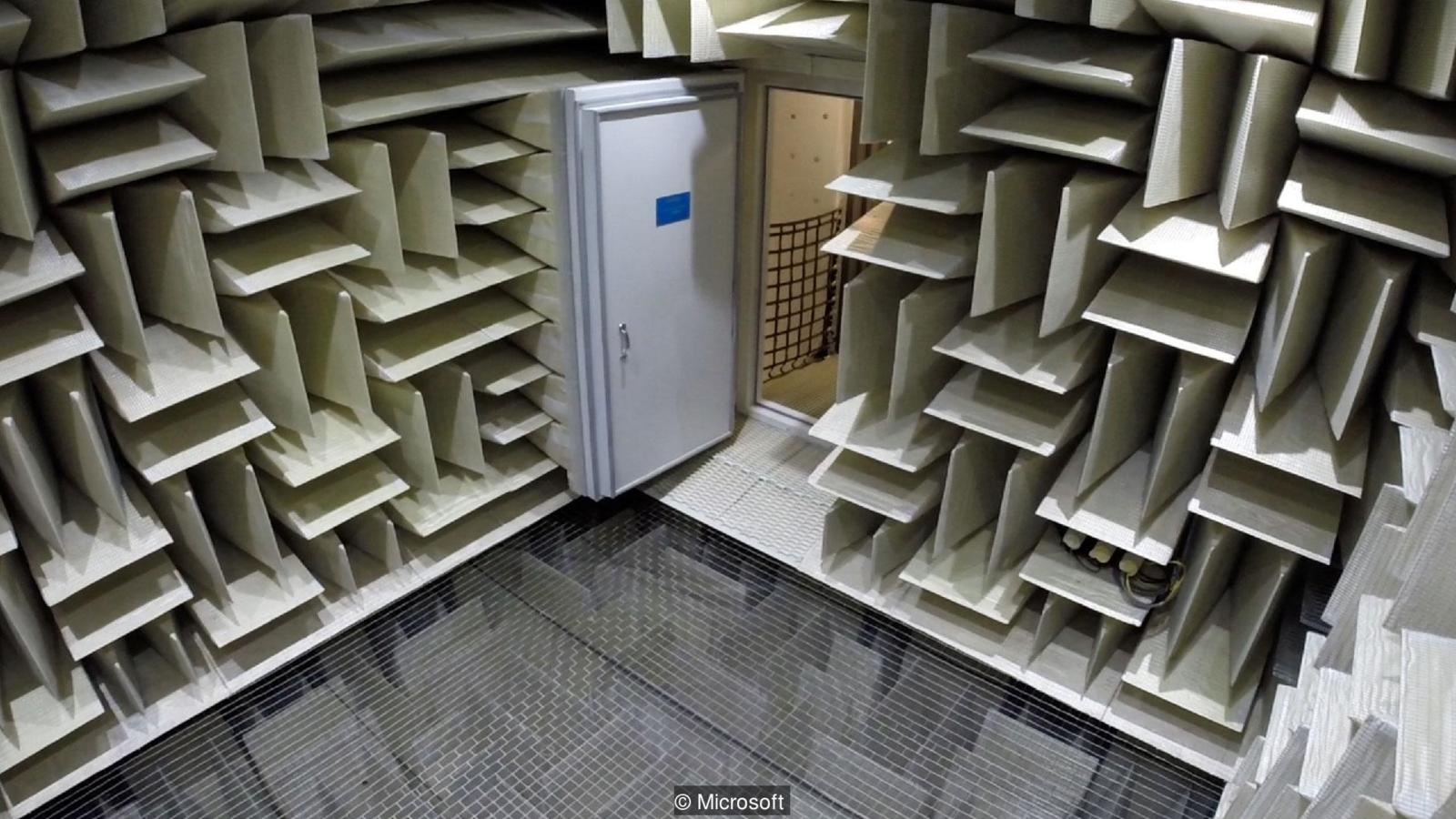 Orfield Laboratories Anechoic chamber (image courtesy of Microsoft)